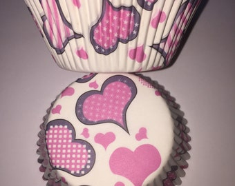 Hearts Cupcake Cases