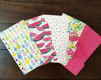 Summer Punch PERSONAL 5 tab divider set