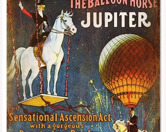 RG294 Barnum & Bailey Balloon Horse Circus Reproduction Sign 12x18