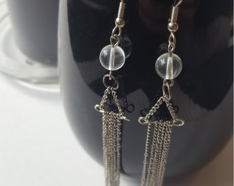 Moon chain earrings - Boho, Witchy, alternative, goth, gothic, romantic, Equinoxart