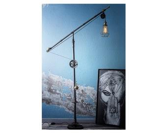 metal table lamp - handmade Lighting - Steampunk Lamps - Wooden lamp - Edison bulb - Table lamp - Pendant lighting -Handmade lamp - vintage