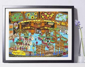 Casino Gambling Art Print - Gambling Gift - Pat Singer's New York