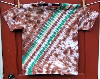 Tie Dye T-shirt - Forest Bandoleer - Youth Medium - Ready to Ship