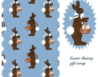 Gift Wrap 6 foot roll of Easter Bunny Gift Wrap