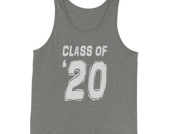 Class of 2020 Graduation Jersey Tank Top for Men