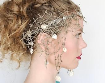 Fisher-Mans Net Mermaid Headdress