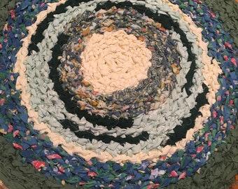 Brand new Handmade Upcycled Round Rag Rug