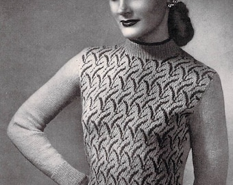 Vintage Knitting Pattern - Fair Isle