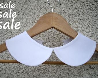 Peter Pan collar, Hand Made vintage collar, Cotton Removable Collar , Peter Pan Detachable White Collar