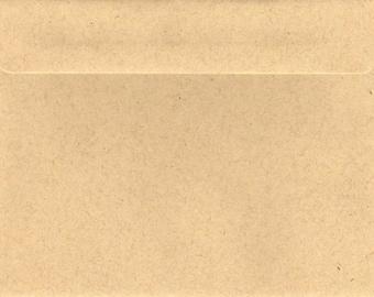 Kraft Brown Envelopes x (20)  C5 C6  5x7 11B 130x180mm 160Sq 130Sq 100% Recycled Material