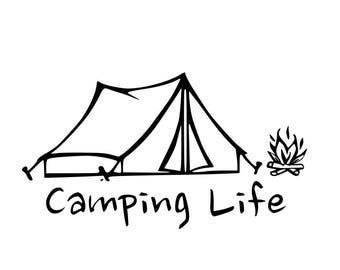 Camping Life Indoor/Outdoor Vinyl Decal
