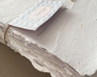 Recycled paper sheets,  handmade paper, 50-sheet packs, smooth sheets, rustic sheets, eco friendly paper