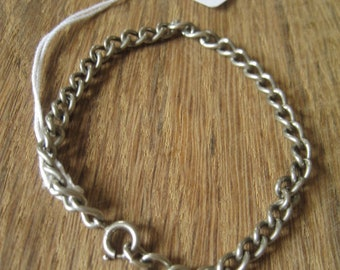 "Sterling Silver Curb Chain Braceler 6.5"" (19)"