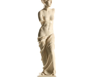 "1960's Vintage Marble & Alabaster Replica of Venus de Milo as rendered by Italian Sculptor, Amilcare Santini - 11.5"" x 3"" 3"""