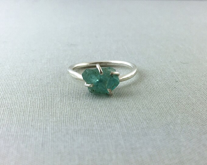 Catalina Ring - Apatite / California Collection // raw apatite ring, sterling silver ring, bohemian jewelry, raw gemstone ring, crystal ring