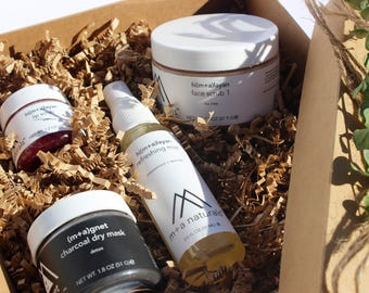 Face Kit, Organic Face Kit, Organic Face Kit, acne kit, blemish kit, facial skin care kit, facial set, facial care,  gift kit, gift set