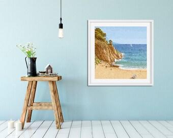 Beach Photography, Seaside Art, Beach House Decor, Ocean, Nautical Fine Art Print.