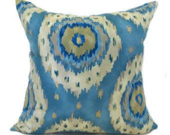 Pillow Covers Decorative Pillows ANY SIZE Pillow Cover Blue Pillow Richloom Alhambra Twill French Blue