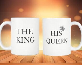 Mug Newlywed|The Kind His Queen|Newlywed Gift|Newlywed Mugs|Couple Gifts|Matching Mugs|Anniversary Mugs|Engagement Gift|Bride Gift
