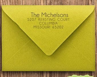 CUSTOM address STAMP from USA, pre inked stamp, Wedding Stamp, rsvp stamp, return address stamp with proof - Custom Address Stamp b5-61