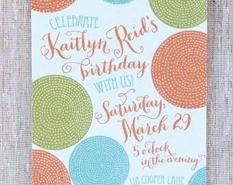 Customizable birthday party invitation
