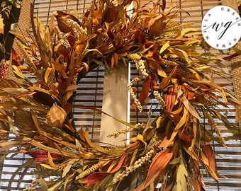 READY TO SHIP | Front Door Wreath | Everyday Wreath | Fall Wreath | Floral Wreath | Front Door Decor | Fall Decor | Willa Green Home