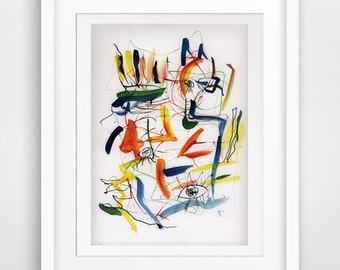 original modern art abstract watercolor painting watercolor art print giclee print colorful watercolor
