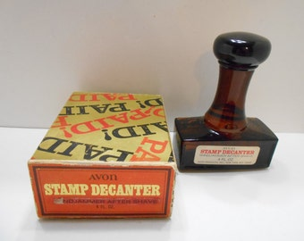 Vintage Avon Paid Stamp Decanter (15) Windjammer After Shave
