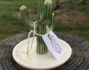 Ceramic Cactus Ring Holder. Ring dish.