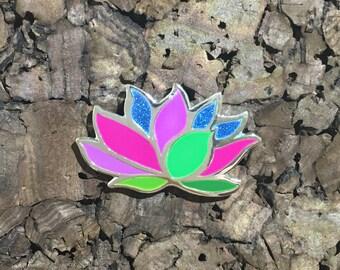 Lotus Glitter Hat Pin
