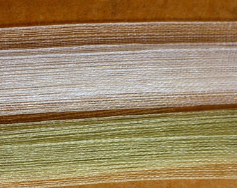 """1/4"""" Victorian Green Piña Silk Embroidery Ribbon, Vintage Embroidery Supply"""