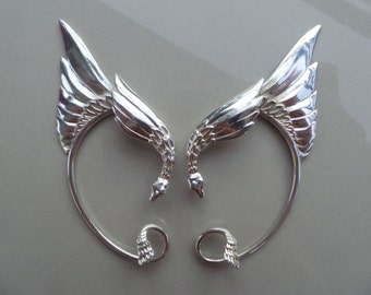 Silver Plated Elven Ear cuffs. Festival, cos-play,star wars, party, everyday, lord of the rings, elven, mystical, EAR CUFFS.