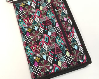 Standard knitting needle case for circulars, interchangeable tips, and short dpns in Modge Podge