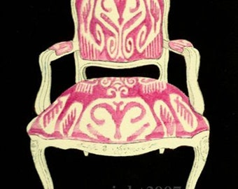 IKAT CHAIR PRINT