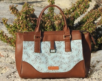 Zipper Handbag Pattern - A Modern Classic Handbag with Zipper - Daytona Bag - PDF Sewing Pattern