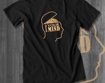 Open Your Mind Knowledge T shirt tops and tees t-shirts t shirts| Free Shipping