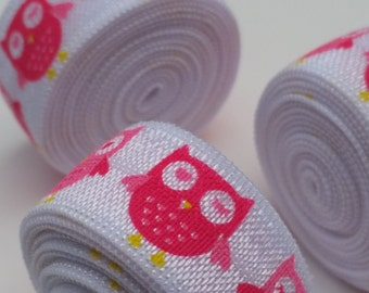 5/8 Owl Always Love You Fold Over Elastic 1, 3, 5 OR 10 yards