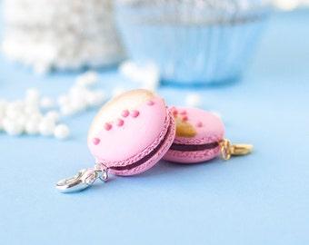 Raspberry French Macaron Charm