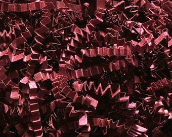 Burgundy Paper Shred, Gift Basket Filler, Gift Box Packing Material, Decorative Paper