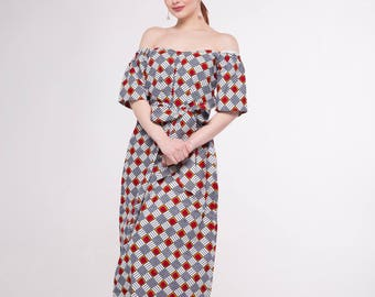 African Print Amira Maxi Dress