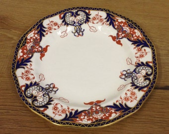 """Antique Royal Crown Derby 10"""" Dinner Plate - Pattern No 3615 Dated 1891 - 1921"""