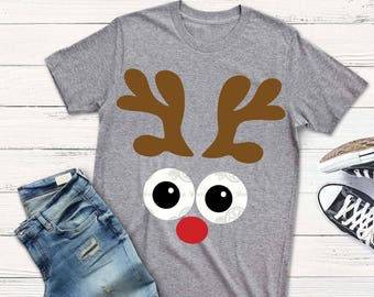 Reindeer face svg, christmas svg, funny reindeer svg, reindeer face svg, png, eps, DXF, funny christmas shirt, shortsandlemons, toddler