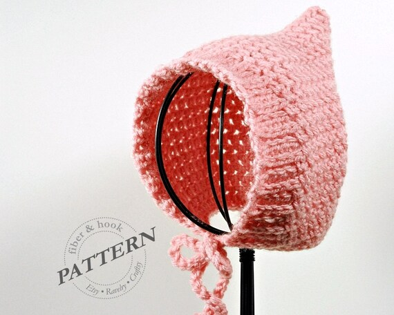Crochet pattern ribbed edge baby pixie bonnet pattern baby crochet pattern ribbed edge baby pixie bonnet pattern baby pixie hat pattern easy pixie bonnet pattern 0 to 24 month sizes pdf 009p dt1010fo