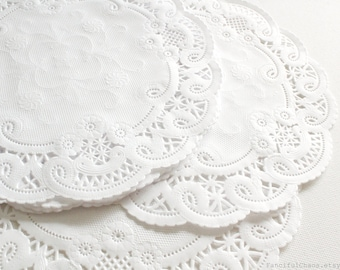 100 White Paper Doily Doilies 5 inch