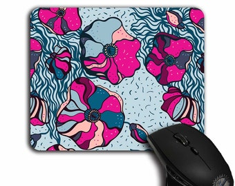 cute Mouse Pad, Colorful Floral pattern,Abstract Flowers,Office Decor,mousepad,cloth top,MP-112