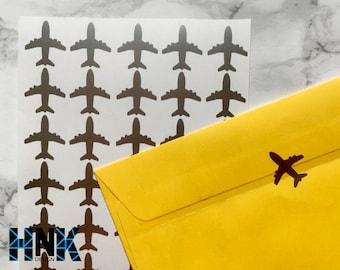 30x / 60x / 90x airplane stickers / envelope stickers / party decoration / glass decor / envelope seals  decals 031