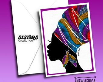 Gele SISTAR COLLECTION Greeting Card, A7, Black Greeting cards