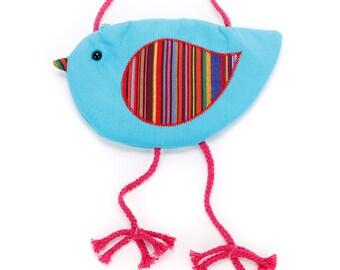 Little Girl Birdy Purse - Blue