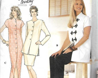 Simplicity 8919 Christie Brinkley Collection, Misses Asian Inspired Dress Or Top, Pants And Skirt Pattern, Size 10-12-14, UNCUT