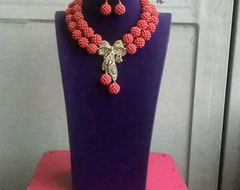 Custom made beaded necklace